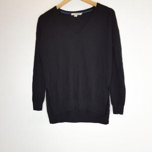 Boden Black Wool V Neck Sweater